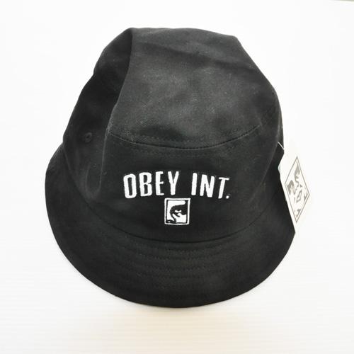 OBEY/オベイ OBEY INT 刺繍プリント バケットハット ブラック