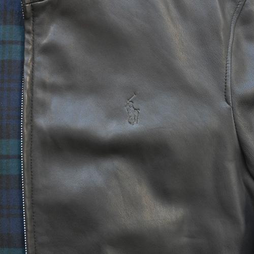 POLO RALPH LAUREN / ポロラルローレン ラムレザーライダースジャケット ブラック - 3