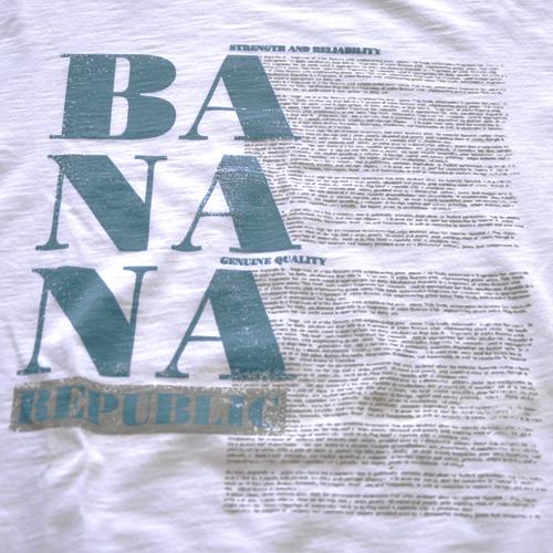 BANANA REPUBLIC (バナナリパブリック) フロントプリント半袖Tシャツ - 2