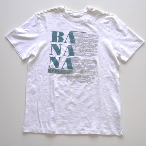 BANANA REPUBLIC (バナナリパブリック) フロントプリント半袖Tシャツ