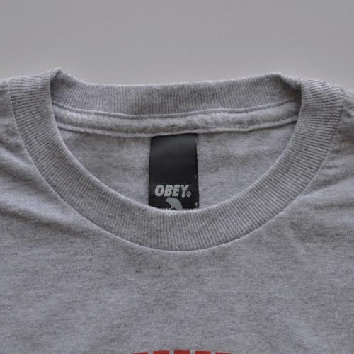 OBEY(オベイ)半袖Tシャツ グレー - 2