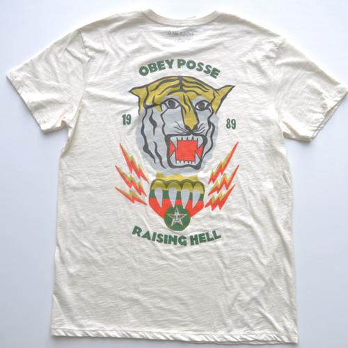 0BEY (オベイ)両面プリント半袖Tシャツ クリーム - 1