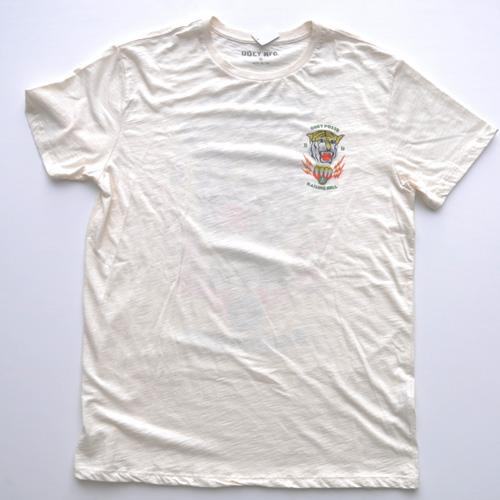 0BEY (オベイ)両面プリント半袖Tシャツ クリーム