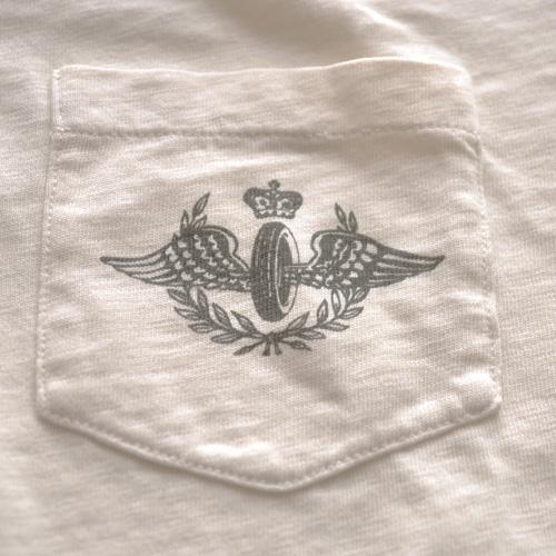 RRL (ダブルアールエル)ヘンリーネックTシャツ オフホワイト-5