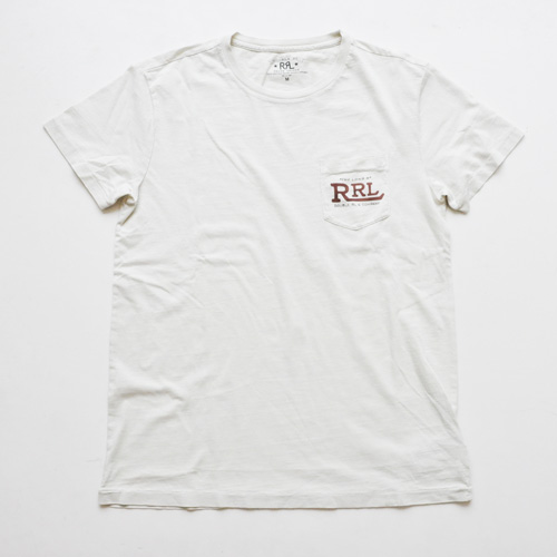 RRL/ダブルアールエル  ビンテージフロントポケット半袖Tシャツ