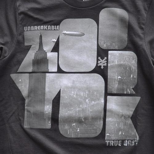 ZOO YORK (ズーヨーク) フロントプリント半袖Tシャツ ブラック - 3