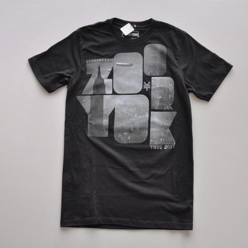 ZOO YORK (ズーヨーク) フロントプリント半袖Tシャツ ブラック