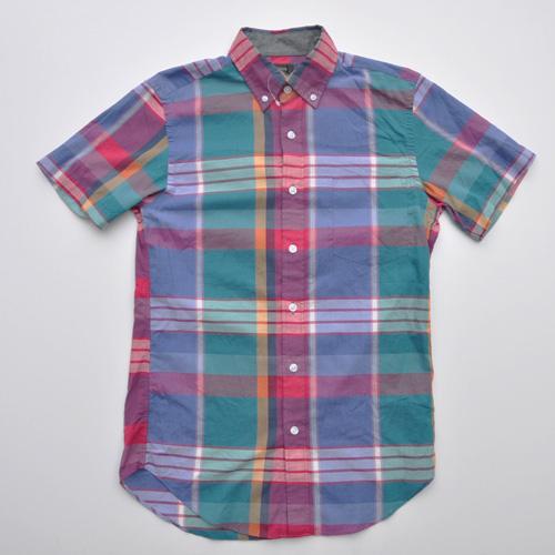 J.CREW (ジェイクルー) 半袖チェックボタンシャツ