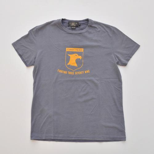 RRL (ダブルアールエル) ナンバリングビンテージTシャツ ネイビー