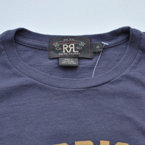 RRL (ダブルアールエル) フロントプリント半袖Tシャツ ネイビー - 2