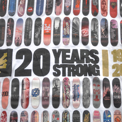 ZOO YORK (ズーヨーク) 20th Anniversary半袖Tシャツ ホワイト - 2