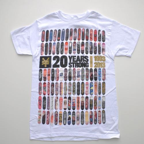 ZOO YORK (ズーヨーク) 20th Anniversary半袖Tシャツ ホワイト