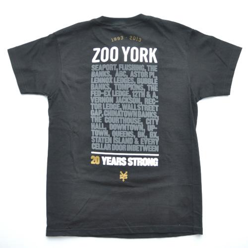 ZOO YORK (ズーヨーク) 20th Anniversary半袖Tシャツ ブラック - 1