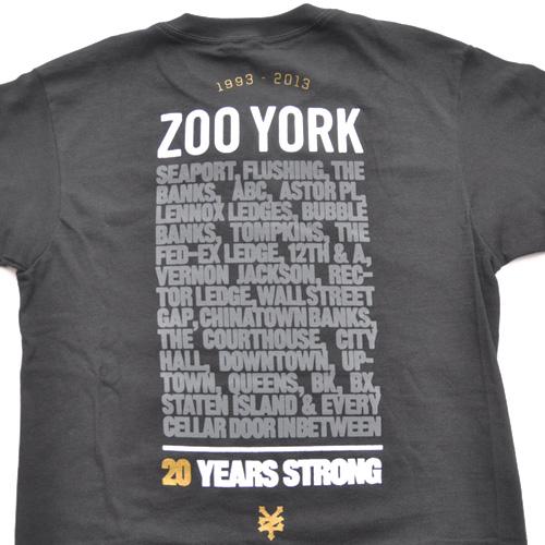 ZOO YORK (ズーヨーク) 20th Anniversary半袖Tシャツ ブラック - 2