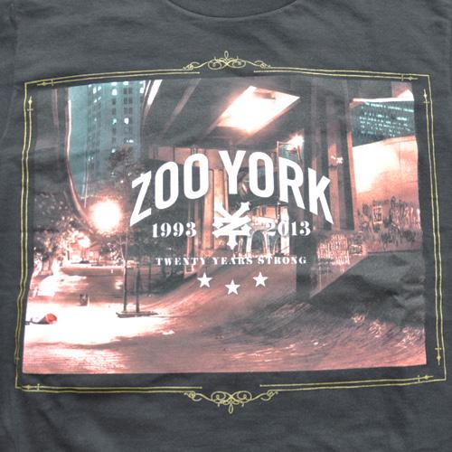 ZOO YORK (ズーヨーク) 20th Anniversary半袖Tシャツ ブラック - 3