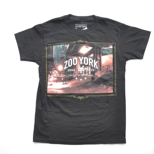 ZOO YORK (ズーヨーク) 20th Anniversary半袖Tシャツ ブラック