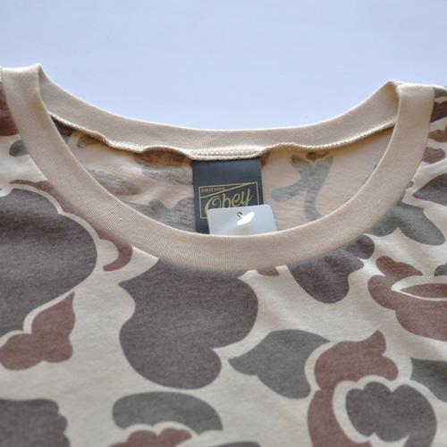 OBEY(オベイ)半袖Tシャツ カモフラージュ-3