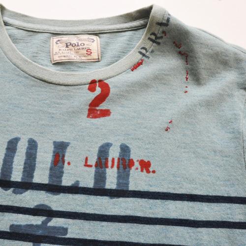 POLO RALPH LAUREN / ポロラルローレン ボーダーマリングラフィックTシャツ - 2