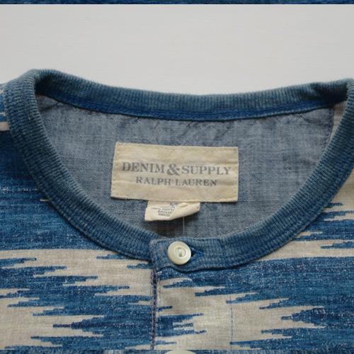 DENIM&SUPPLY (デニム&サプライ) ヘンリーネック長袖Tシャツ - 4