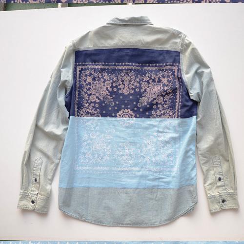 DENIM&SUPPLY (デニム&サプライ) ペイズリーパッチ長袖シャツ - 1