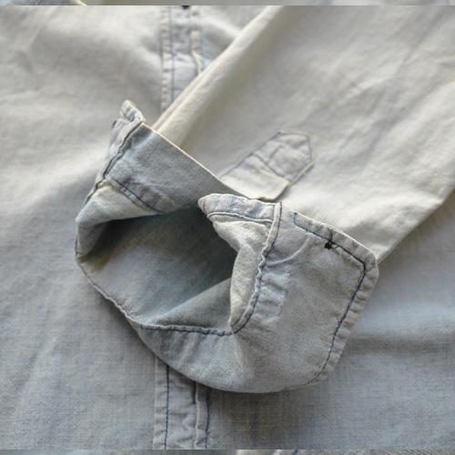 DENIM&SUPPLY (デニム&サプライ) ペイズリーパッチ長袖シャツ - 5