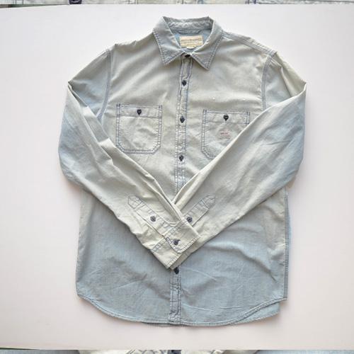 DENIM&SUPPLY (デニム&サプライ) ペイズリーパッチ長袖シャツ