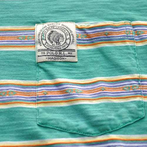 POLO RALPH LAUREN  /ラルフローレン 半袖ボーダーポケットTシャツ - 2