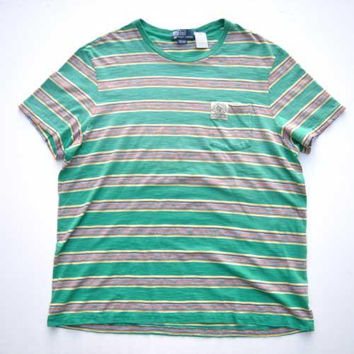 POLO RALPH LAUREN  /ラルフローレン 半袖ボーダーポケットTシャツ