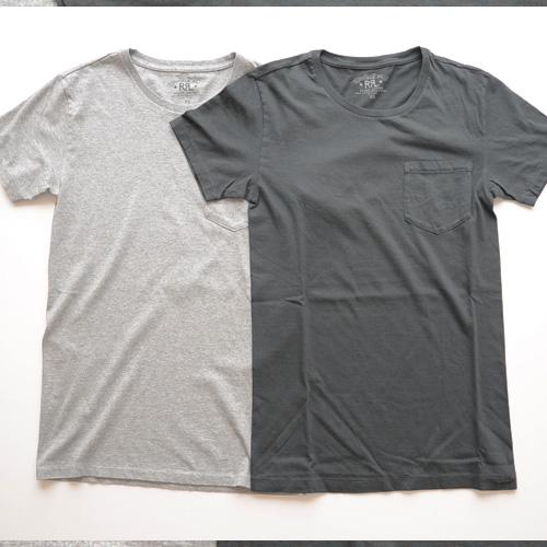 RRL (ダブルアールエル) 無地フロントポケット付きTシャツ 2カラー