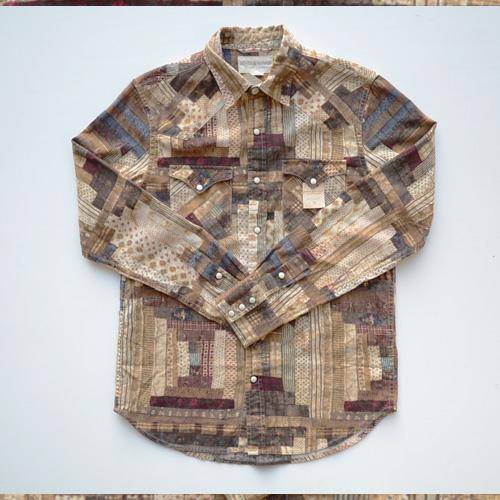 DENIM&SUPPLY/デニム&サプライ パッチワーク長袖シャツ