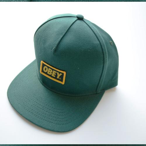 OBEY/オベイ スナップバック グリーン-3