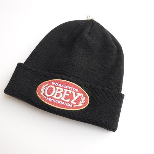 OBEY /オベイ フェルトロゴニットキャップ - 2
