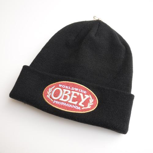 OBEY /オベイ フェルトロゴニットキャップ