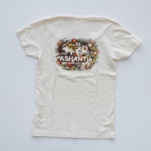 ASHANTie /アシャンティ VネックフラワーTシャツ - 1