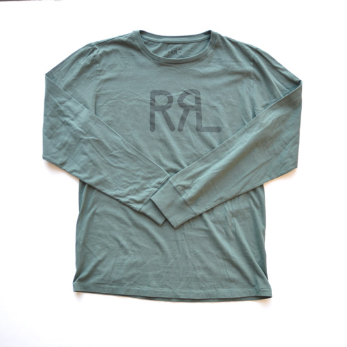 RRL/ダブルアールエル  フロントロゴロングスリーブTシャツ