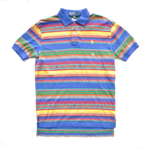 POLO RALPH LAUREN /ポロラルフローレン マルチボーダー半袖ポロシャツ 2カラー - 1