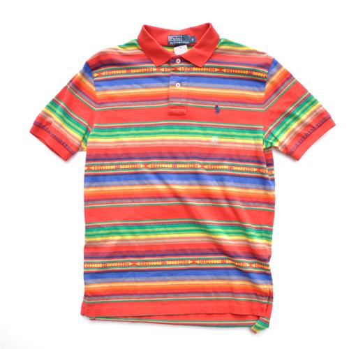 POLO RALPH LAUREN /ポロラルフローレン マルチボーダー半袖ポロシャツ 2カラー