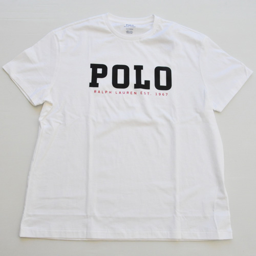 POLO RALPH LAUREN /ラルフローレン POLOプリント半袖Tシャツ BIG SIZE ホワイト