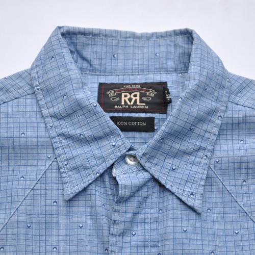 RRL/ ダブルアールエル ウエスタンロングスリーブボタンシャツ - 4
