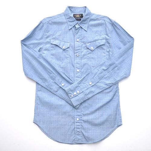 RRL/ ダブルアールエル ウエスタンロングスリーブボタンシャツ