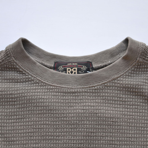 RRL/ダブルアールエル ミリタリーワッフルロングスリーブTシャツ - 3