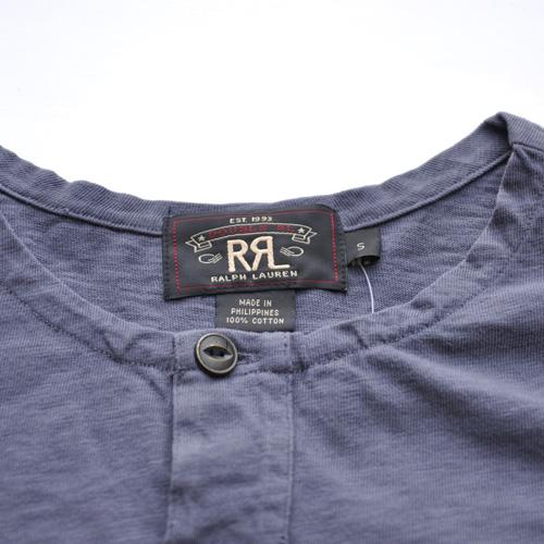 RRL/ダブルアールエル 半袖ヘンリーネックTシャツ - 3