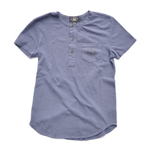 RRL/ダブルアールエル 半袖ヘンリーネックTシャツ