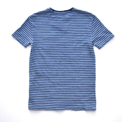 RRL/ダブルアールエル  インディゴ ポケットボーダーTシャツ - 1