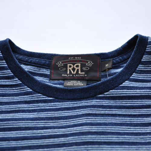 RRL/ダブルアールエル  インディゴ ポケットボーダーTシャツ - 2