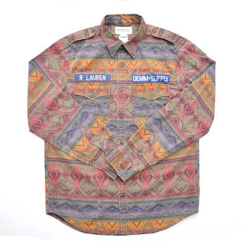 DENIM&SUPPLY/デニム&サプライ 長袖ネイティブシャツ