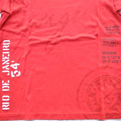 DESIGUAL / デジグアル  半袖Tシャツ レッド - 3