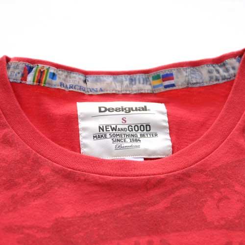 DESIGUAL / デジグアル  半袖Tシャツ レッド - 4