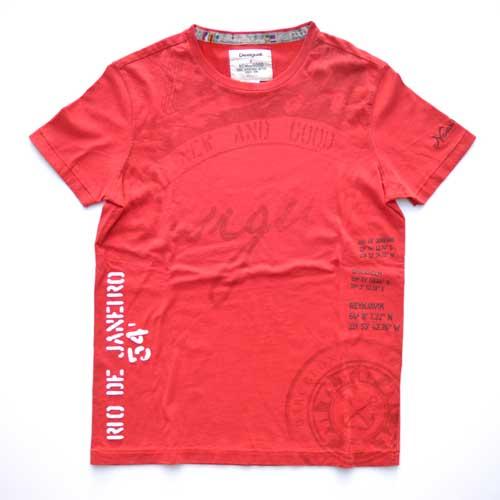 DESIGUAL / デジグアル  半袖Tシャツ レッド