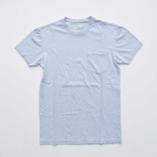 J.CREW/ジェイクルー ポケット付き総柄半袖Tシャツ